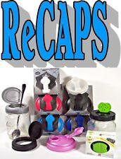 ReCAP Lids, FLIP CAPS, SHAKERS  & Gaskets For Mason Jars, BPA FREE!