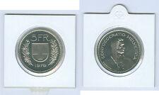 SUISSE 5 Francs pièce de monnaie de kms ( Choisissez entre : 1974 - 2018)