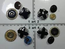 1 lotto bottoni gioiello strass smalti artigianali  buttons boutons vintage g6