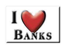 SOUVENIR UK - SCOTLAND FRIDGE MAGNET I LOVE BANKS (DUMFRIES AND GALLOWAY)