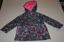 New Carter's Girls Raincoat 3T 4T 5 7 8 12 14 Navy w Pretty Tiny Floral Print