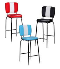 2er Set Barhocker American Diner Barstuhl 50er Jahre Retro Stuhl US Doppelpack