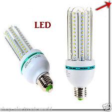 LAMPADA LAMPADINA LED 7W 9W 12W 16W  LUCE FREDDA CALDA BASSO CONSUMO E27 E14