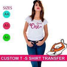 Gracies One Print Hen Party Iron On Fabric Heat Transfer T Shirt Sparkle Custom