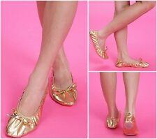 ADULT WOMEN'S Belly Ballet Dance Shoes Golden pratice Imitation Leather shoes