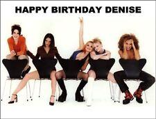 A4 Spice Girls Pop Group Edible Glaseado Cumpleaños Pastel Topper