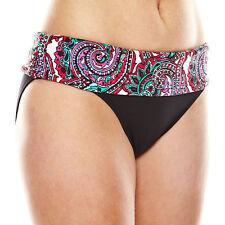 Liz Claiborne Paisley Sash Hipster Swim Bottoms Size 8, 10, 14 Msrp $46.00