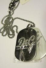 D&G Jewels ciondolo placca D&G in acciaio con catenina