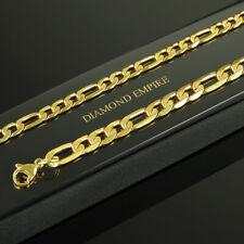 Cadena Figaro 6/7mm 999 bañado en oro 24 Quilates Amarillo Mujer Hombre k2430