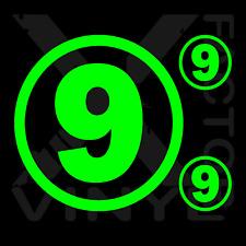 8 Inch Car door number vinyl decals Get 2 BONUS! FREE/FAST SHIP any number/color