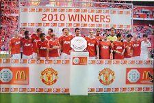 MANCHESTER UNITED 2010 WINNERS FOOTBALL POSTER - SOCCER