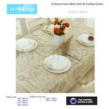 British Letter, Linen/Cotton Home Decor Cushion Case Cover Tablecloth