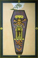 Masonic Master Mason degree art print poster ring Trestle Tracing Board