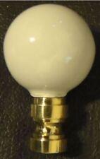 "2"" Ceramic Ball Style Lamp Light Harp Finial - Choose Color Black White Beige"