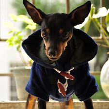 Teddy Chihuahua Puppy Fawn Dog Cloak Coat Jacket Winter Pet Dog Clothes S M L