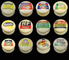 Crème classique porcelaine céramique armoire de marque bonbons Nouveauté Boutons de Porte 38mm
