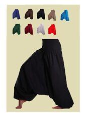 Plain Solid Rayon Ali Baba Aladdin Genie Baggy Gypsy Yoga Harem Pants Trousers