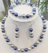 8mm/10mm Multicolor South Sea Shell Pearl Necklace Bracelets Earrings JN1409