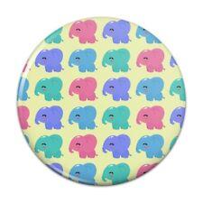 Cute Kawaii Baby Elephants Pattern Compact Pocket Purse Hand Makeup Mirror