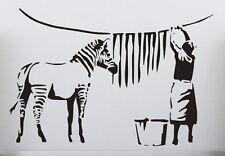 Banksy Graffiti Washed Zebra Stripes Large Vinyl Wall Stickers Classic StreetArt