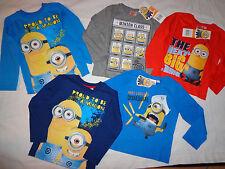 Minions T-Shirt Langarmshirt Pulli 86-92-98-104-110-116-122-128 blau rot grau