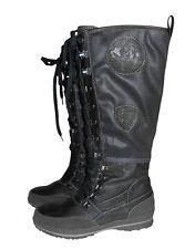 Tom Tailor Stiefel Boots Schnürstiefel schwarz Gr. 38 40 NEU Damen - SCH4