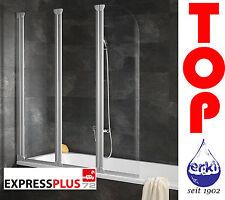 SCHULTE Badewannenaufsatz Badewannenfaltwand 3-teilig Echtglas Komfort EP1654