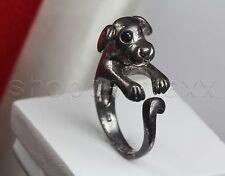 Antique Style Solid Sterling Silver Adjustable Alice in Wonderland Dog Ring