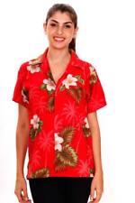 Funky Hawaiibluse Small Flower Rot versch. Größen Hawaiishirt