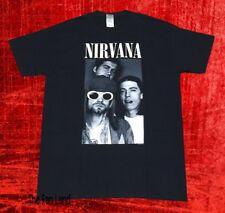 New Nirvana Group Shot Band Photo Classic Grunge Black Vintage T-Shirt