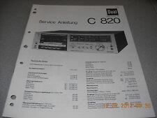 Dual C820 Service Manual