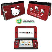 Hello Kitty Autocollant Peau Vinyle Pour Nintendo 3DS XL-Rouge