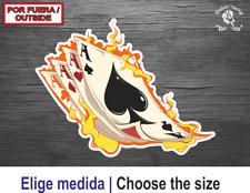 Poker Gambing Skull Calavera Baraja Cards Vinilo Sticker Pegatina Autocollant