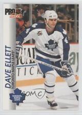 1992-93 Pro Set #186 Dave Ellett Toronto Maple Leafs Hockey Card