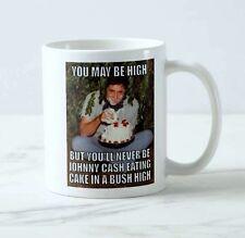 New Johnny Cash Eating Cake High Meme Coffee Tea Mug Cup Funny Sarcasim Gift