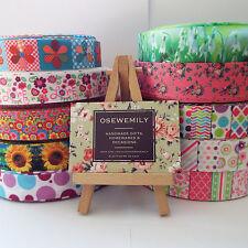 Per Metre Floral / Ditsy Grosgrain ribbon 22/25mm Party Cake/ Hair Bows/ Wrap
