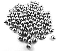 100 X Bolas Roscada Acero para joyas de cuerpo * 1.2mm o 1.6mm, 3mm o 4mm Tamaño