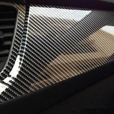 3D 5D High Gloss Black Carbon fiber Vinyl Automotive Car Wrap Film DIY Interior