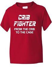 Cuna Fighter ufc/mma Funny Chicos Chicas Camiseta Cumpleaños Regalo edad 1-13