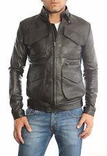 ★Giacca Giubbotto Uomo in di PELLE 100%★ Men Leather Jacket Veste Homme Cuir 8z1