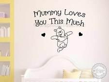 Nursery parete preventivo, WINNIE THE POOH Adesivo, BABY BOY GIRL Camera Da Letto Wall Art