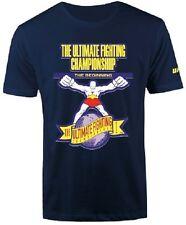 UFC The Beginning Logo T-Shirt - Navy -Mens Size S/M NWT