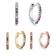 Buyless Fashion Multicolored Rainbow Hoop Earring For Women Girls Teens