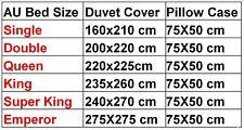 Luxury 1000tc Egyptian Cotton 3 PCs Bedding Duvet Set Solid Colors All AU Size