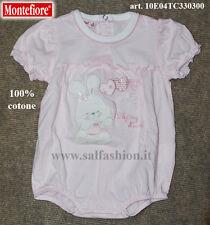 Tutina pagliaccetto neonata 100% cotone MONTEFIORE art. TC33/0300