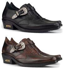 Chaussures homme cuir véritable effet serpent cowboy Western talon cubain
