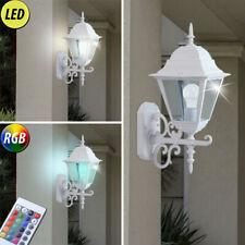 LED Wand-Leuchte Laternen Außen Lampe Terrasse Licht DIMMBAR RGB Fernbedienung