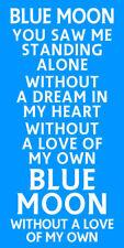 Blue Moon metallo segno-CALCIO CANTO Regalo Placca Poster per fan di Manchester City