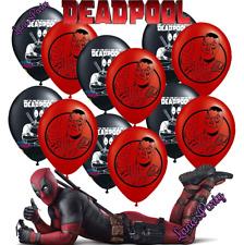 "DEADPOOL 12"" LATEX Birthday Balloons PARTY balloon xmen batman spiderman hulk"