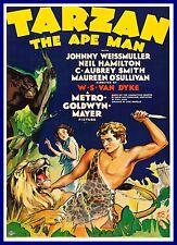 Tarzan The Ape Man  1930's Movie Posters Classic & Vintage Cinema